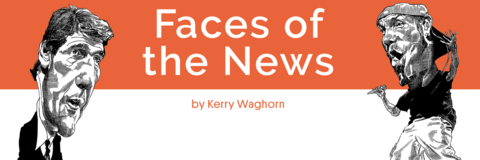 Faces in the News by Kerry Waghorn