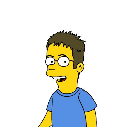 Simpsonized me close up