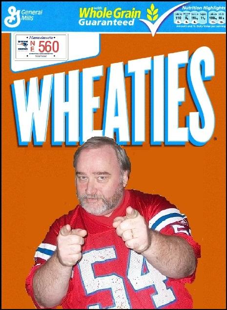 Wheaties box got it
