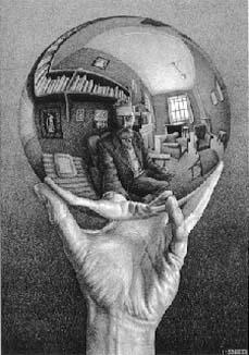 Escher glass ball