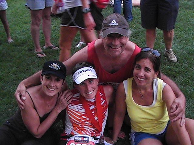 Lynda  stephanie  nancy  me. ironman triathalon 2009