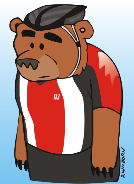 Eric the bear cyclist small