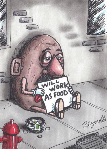 Potatoheadworkingasfood