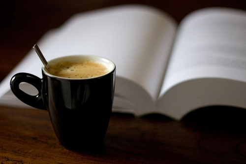 Coffee and book 1
