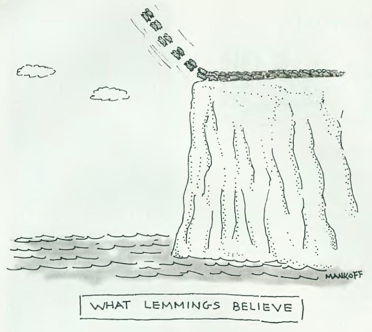 What lemmings believe