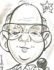 Davis very small caricature