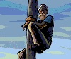 Up a pole icon