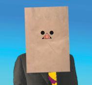 Sheet faced man color small