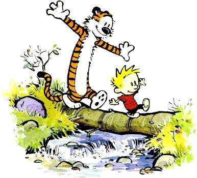 Calvin and hobbes  balancing act ...with smile