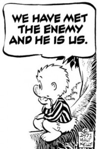 The enemy is us... pogo