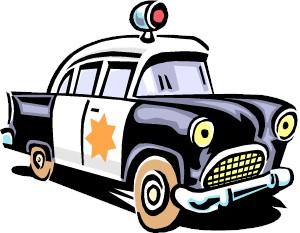 Cartoon cop car