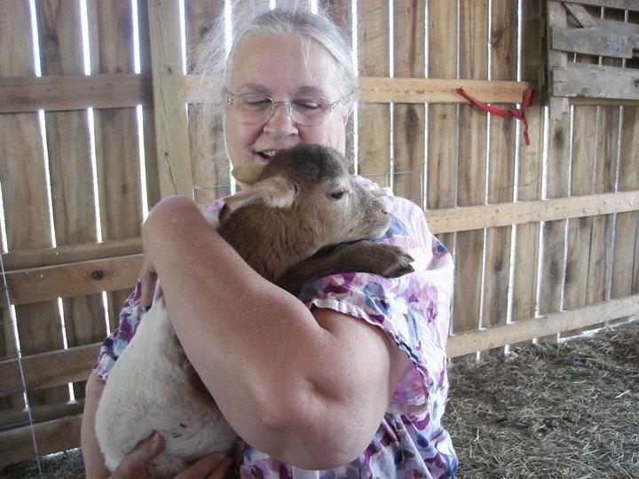 Beth and lamb