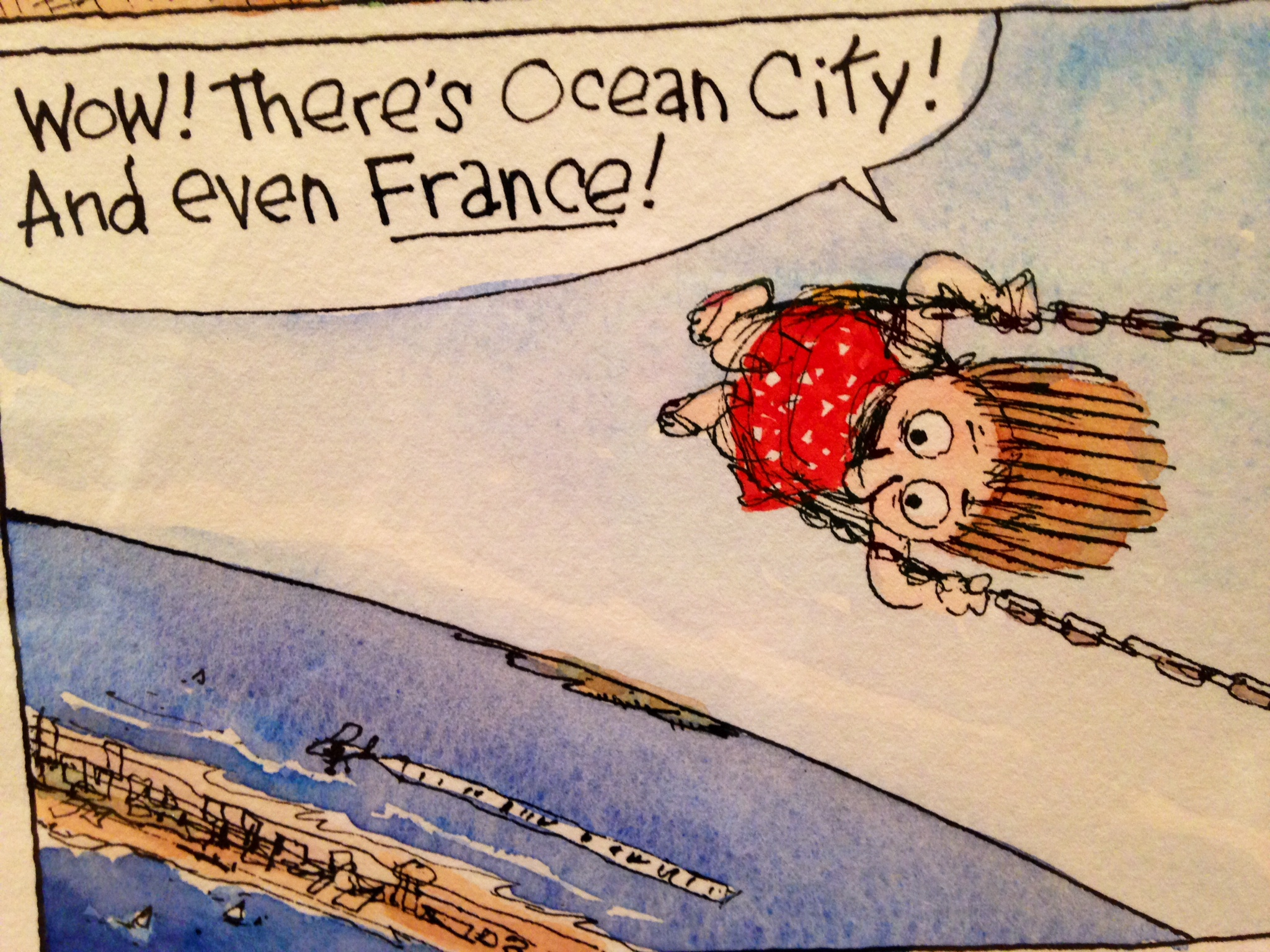 Cartoon cds alice swings over oc   france