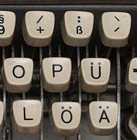 German typewriter detail small