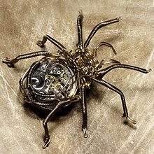 220px steampunk brass spider