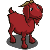 Goat red icon