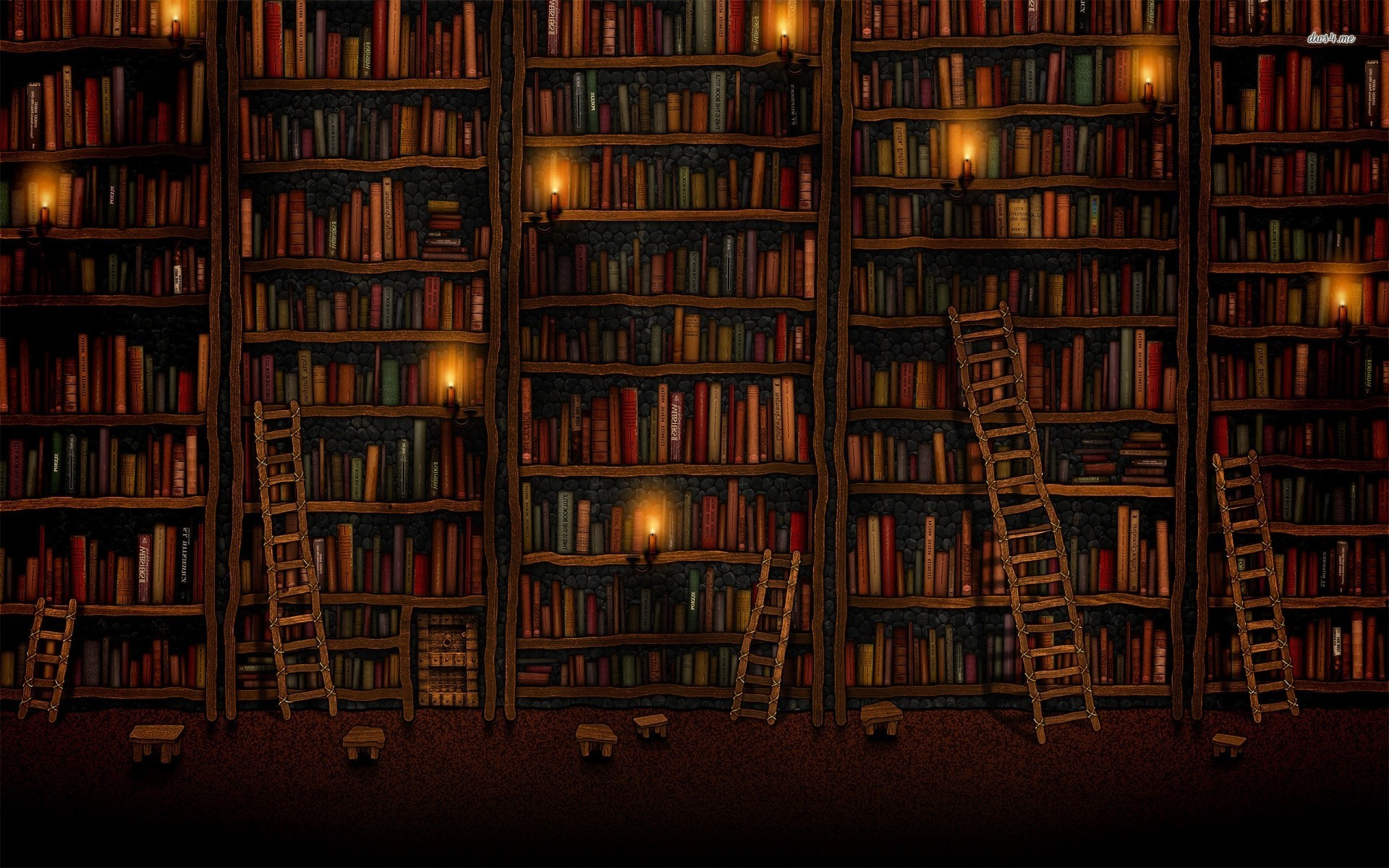 12767 Old Library 1920x1200 Artistic Wallpaper