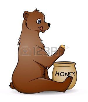11666093 bear with honey