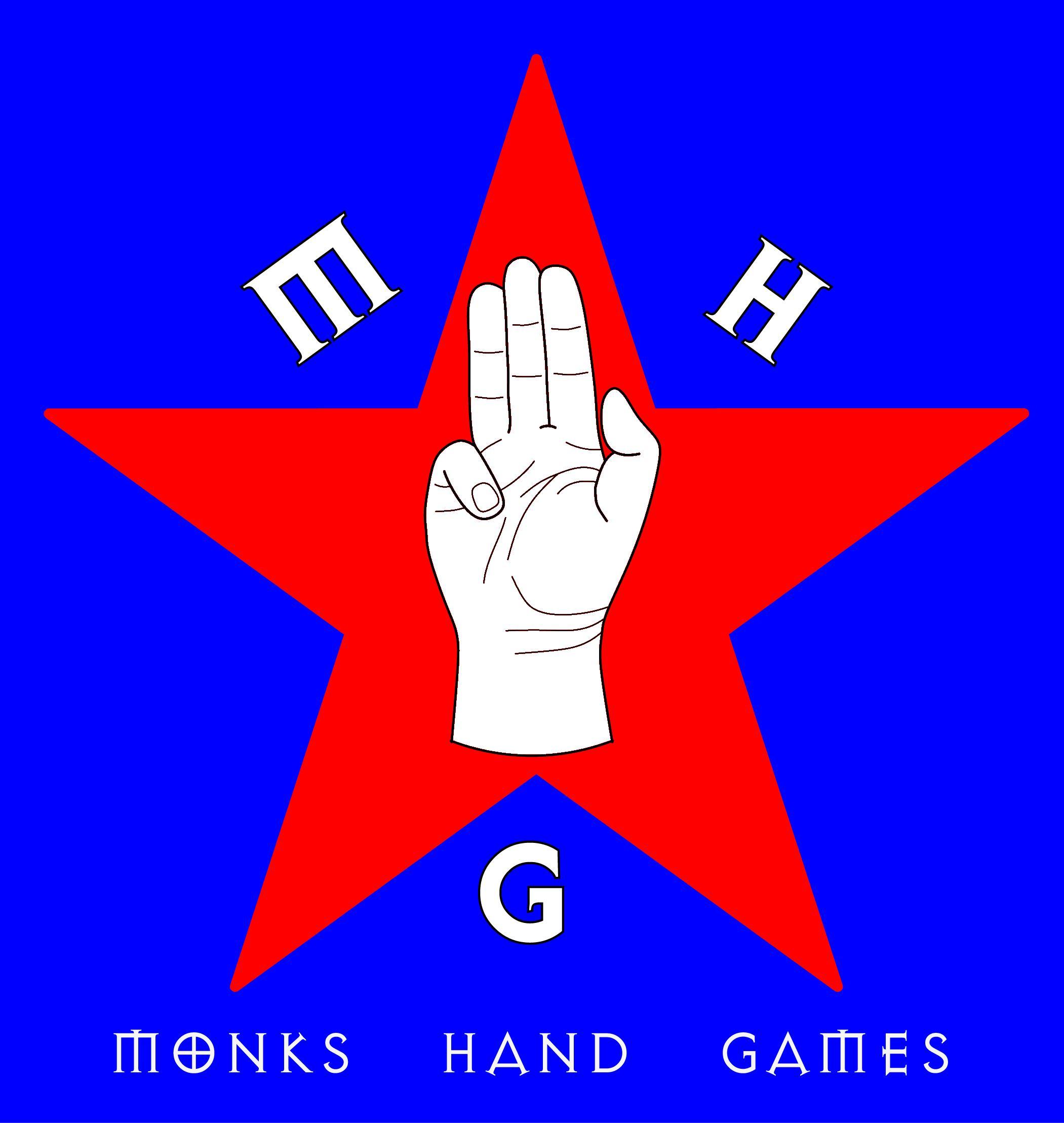 Monks hand smaller