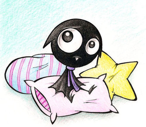 Pillows and a bat ruby gloom 11443577 600 586