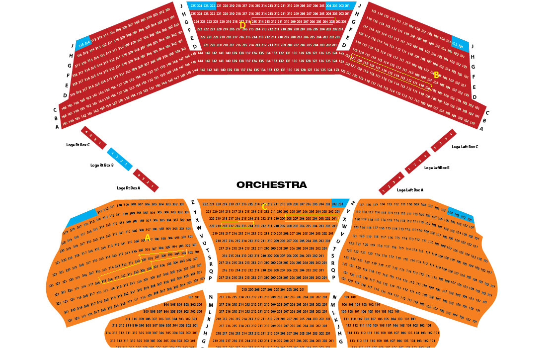 Aronoff seat map