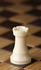 133px chess piece   white rook