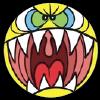 Garf angry emoji blk