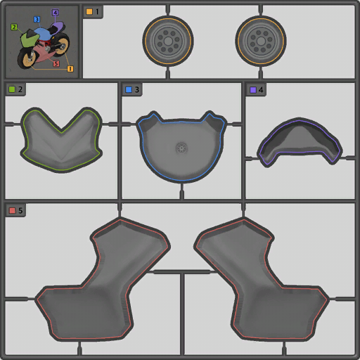 Motorcycle template
