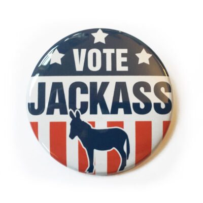 Button democrat jackass 400x400