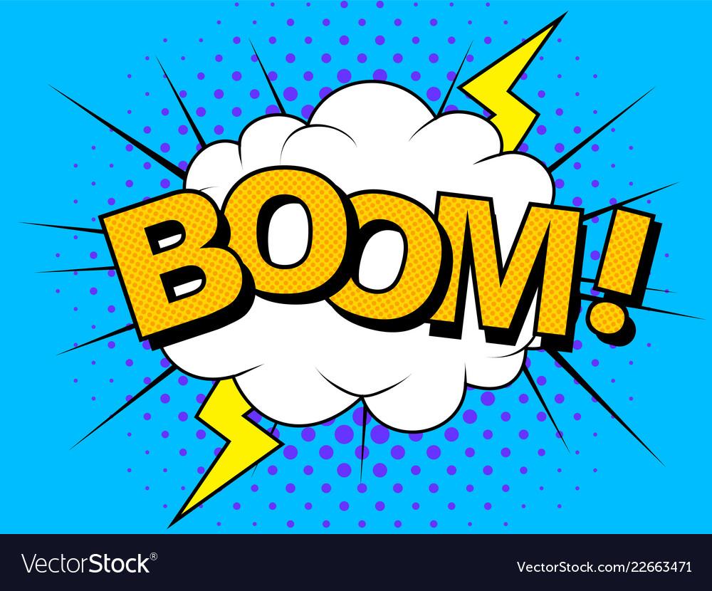 Comics boom comic cartoon vector 22663471