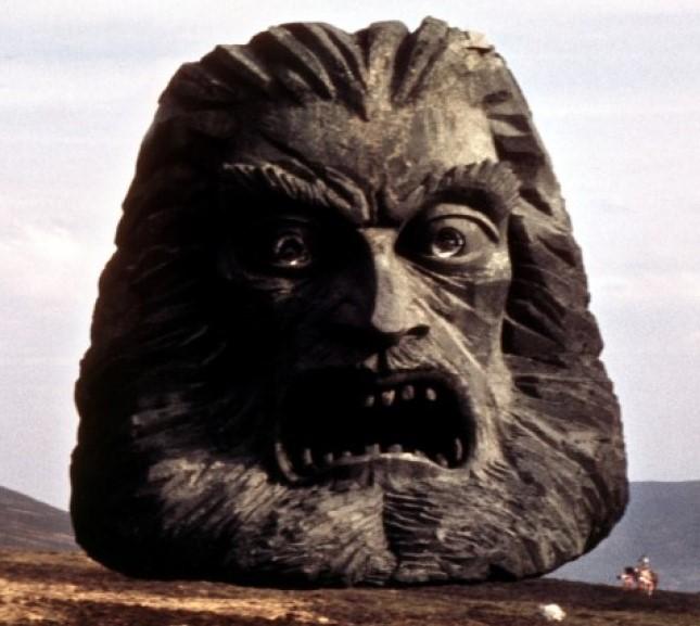 The stone head