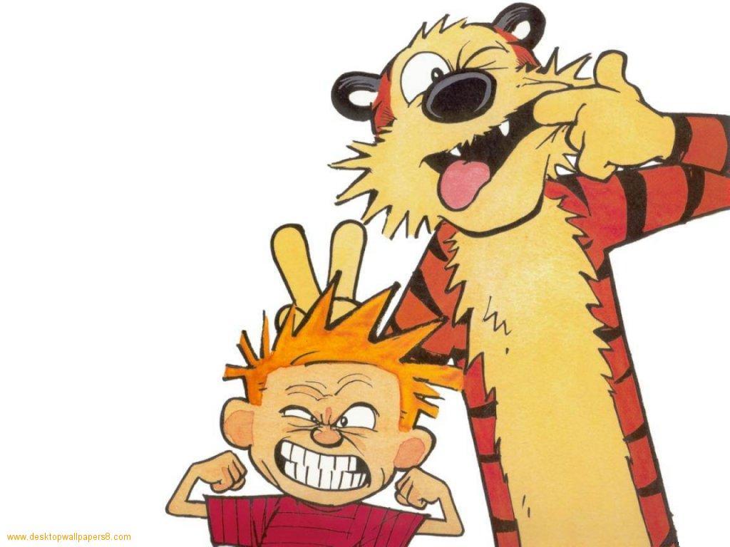 Calvin hobbes pull a face