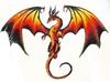 Large 7077 dark dragon spirit logo