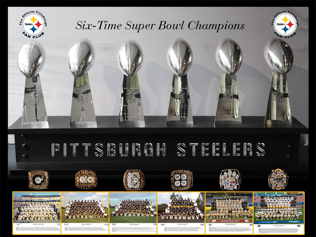 2016 steelers wallpaper six superbowls rings trophys
