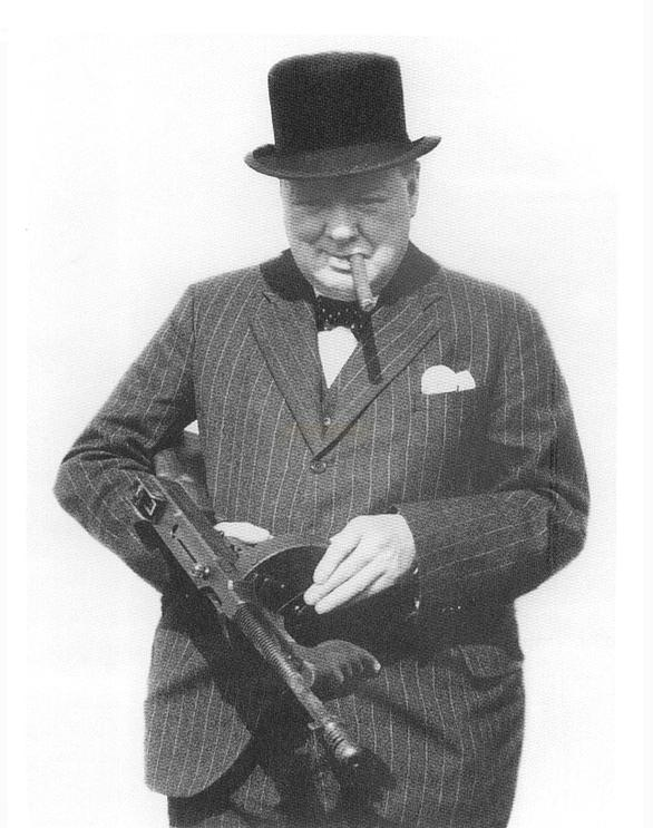 Churchill with m1928 thompson in 1940