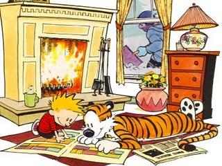 Calvin   hobbes   reading book